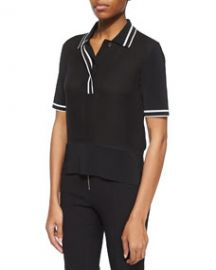 Rag and Bone Dana Striped-Trim Polo at Neiman Marcus