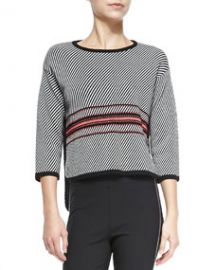 Rag and Bone Dawn 34-Sleeve Striped Pullover at Neiman Marcus