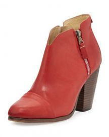 Rag and Bone Margot Double-Zip Bootie Red at Neiman Marcus