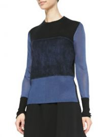 Rag and Bone Marissa Colorblock Knit Sweater Pigment at Neiman Marcus