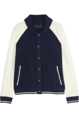 Rag and Bone Raquel Boiled Wool Varsity Jacket at Net A Porter