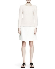 Rag and Bone Rita Waffle Knit Sweater and Edburg Asymmetric Combo Wrap Skirt at Neiman Marcus