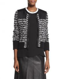 Rag and Bone Viola Cotton-Blend Sweater Jacket Black at Neiman Marcus