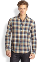 Rag and Bone Yokohama plaid shirt at Saks Fifth Avenue