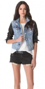 Rag and Bone leather denim jacket at Shopbop