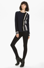 Rag and Bone racing stripe sweater at Nordstrom