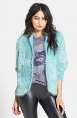 Raga Dolman Sleeve Faux Fur Cardigan at Nordstrom