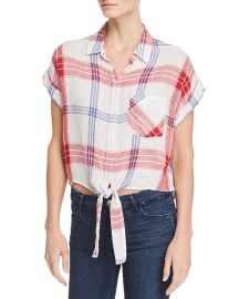 Rails Amelie Tie-Front Plaid Shirt at Bloomingdales