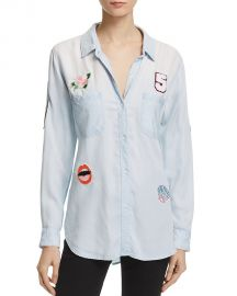 Rails Carter Chambray Patch Button-Down Shirt at Bloomingdales