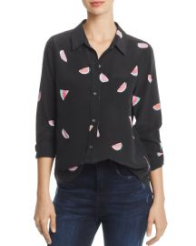 Rails Kate Watermelon Print Silk Shirt  at Bloomingdales