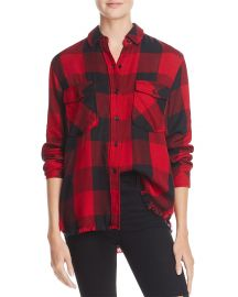 Rails Larsson Embroidered Frayed Plaid Shirt at Bloomingdales