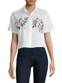 Rails - Gretta Embroidered Button-Down Shirt at Saks Off 5th