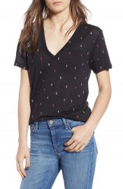 Rails Cara V-Neck Slub Knit Tee at Nordstrom