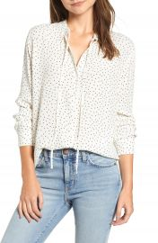 Rails Casey Tie Neck Blouse at Nordstrom