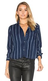 Rails Dana Button Up in Midnight Tribeca Stripe from Revolve com at Revolve