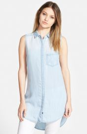 Rails Elizabeth Chambray Tunic Dress in Light Vintage at Nordstrom