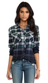 Rails Erin Shirt in Green and Blue Ombre  REVOLVE at Revolve