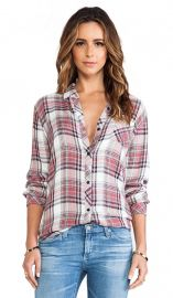 Rails Hunter Button Down in Rose and Cream  REVOLVE at Revolve