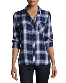 Rails Hunter Plaid Shirt  Oxford Blue at Neiman Marcus