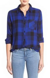 Rails Hunter Plaid Shirt in Cobalt at Nordstrom