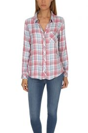 Rails Hunter Shirt at Blue and Cream