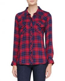 Rails Kendra Tenceland174 Button-Down Shirt Candy AppleNavy at Neiman Marcus