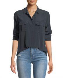 Rails Rhett Button-Front Long-Sleeve Pocket Shirt at Neiman Marcus