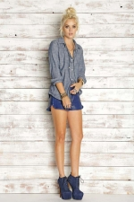 Rails polka dot chambray shirt at The Trend Boutique
