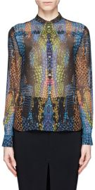 Rainbow Crocodile Blouse by Alexander McQueen at Lane Crawford