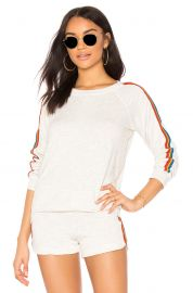 Rainbow Stripe Pullover at Revolve