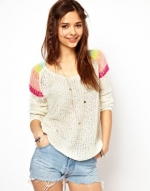 Rainbow shoulder sweater like Maggies at Asos