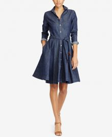 Ralph Lauren Belted Denim Shirtdress at Ralph Lauren