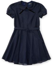 Ralph Lauren Fit & Flare Chiffon Dress at Macys