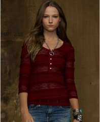 Ralph Lauren Lace Henley at Macys