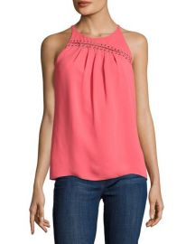 Ramy Brook Zia Sleeveless Top in Guava at Neiman Marcus