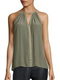 Ramy Brook - Karin Studded Silk Top at Saks Fifth Avenue
