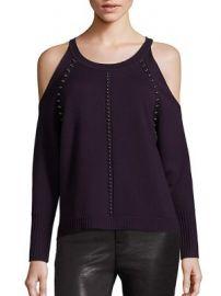Ramy Brook - Maya Long Sleeve Merino Wool Cold Shoulder Top at Saks Fifth Avenue