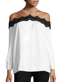 Ramy Brook - Sandy Suspended Lace Trim Top at Saks Off 5th