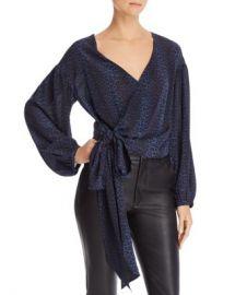 Ramy Brook Daya Leopard Silk Wrap Top - 100  Exclusive Women - Bloomingdale s at Bloomingdales