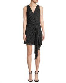 Ramy Brook Desiree Sleeveless Dot Applique Metallic Mini Dress at Neiman Marcus