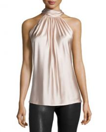 Ramy Brook Paige Halter-Neck Top Blush at Neiman Marcus