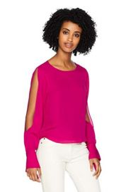 Ramy Brook Womens Addy Slit Sleeve Top at Amazon