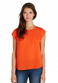 Rancher top in spicy orange at Joie