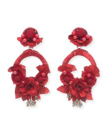 Ranjana Khan Posie Statement Earrings  at Neiman Marcus