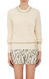 Raquel Allegra Shredded Cotton Sweater at Barneys