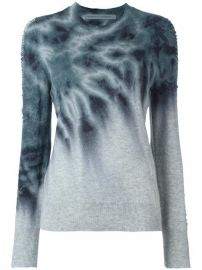 Raquel Allegra Tie-dye Shredded Sleeve Jumper at Farfetch