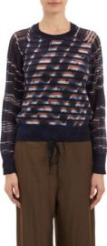 Raquel Allegra Unraveled-Knit Stripe Sweater at Barneys