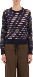 Raquel Allegra Unraveled-Knit Stripe Sweater at Barneys