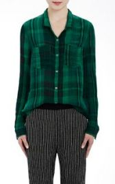 Raquel Allegra Washed Gauze Button-Down Shirt at Barneys