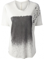 Raquel Allegra splash Print T-shirt - Feathers at Farfetch